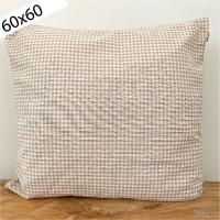 Funda Cojín vichy beige 60x60