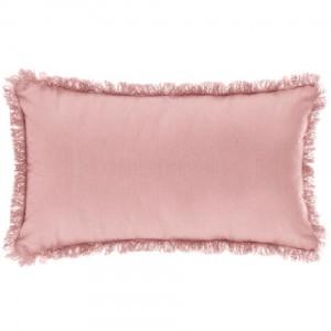 Cojín lleno rosa 30x50 con flecos