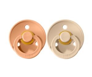 Pack de 2 Chupetes BIBS Colours Peach/Vanilla
