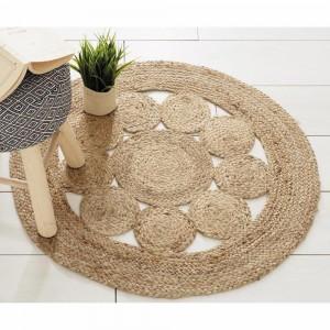 Round openwork Jute rug
