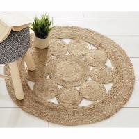 Round esparto rug