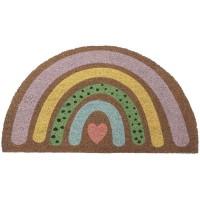 Pastel rainbow doormat