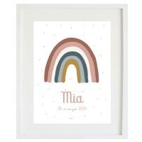 Lámina arcoíris personalizada soft pink