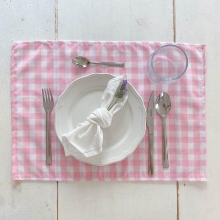 Pack de 2 servilletas vichy rosa