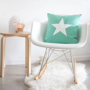 Mint star cushion