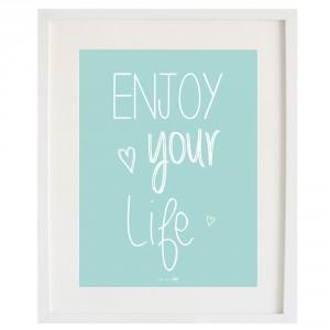 Lámina Enjoy your Life Mint