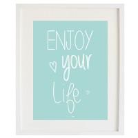 Cardboard Enjoy your Life Mint