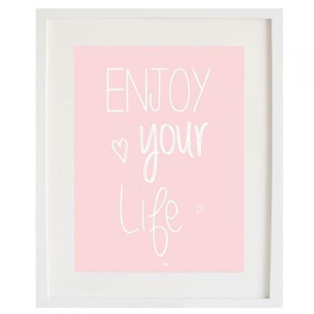 Cardboard Enjoy your Life Pink