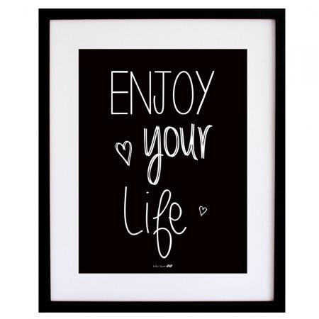 Lámina Enjoy your Life Black