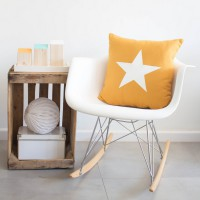 Mustard star cushion