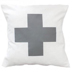 White Cross cushion