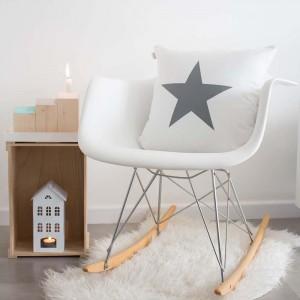 Funda cojín Estrella Blanco