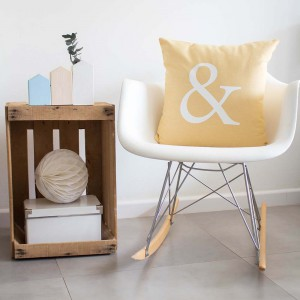 Yellow Ampersand cushion